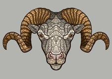 Ram head mascot Royalty Free Stock Images