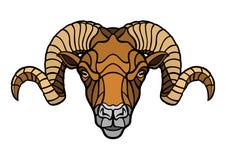 Ram head mascot Royalty Free Stock Photos