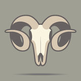 Ram head mascot. Ram's skull mascot isolated on a brown background Stock Illustration