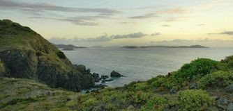 Ram Head Morning, St. John. A beautiful early morning from the top of the beautiful and remote Ram Head on the caribbean island of St. John in the US Virgin Stock Image