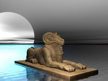Ram Headed Sphinx Royalty Free Stock Images