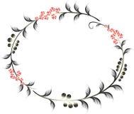 Ram i formen av en ellips av bär och Arkivbild