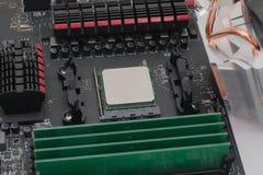 RAM installato sulla scheda madre Immagine Stock
