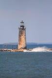 Ram Island Ledge Light - Maine. Vertical image of Ram Island Ledge Light Station in Casco Bay, Maine Royalty Free Stock Photo