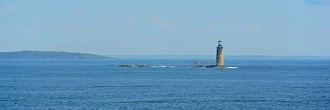 Ram Island Ledge Lighthouse, Maine foto de archivo libre de regalías