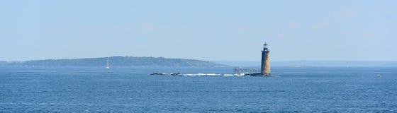 Ram Island Ledge Lighthouse, Maine fotos de archivo