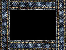 ram isolerad jeans Arkivbild