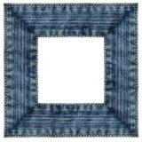ram isolerad jeansfyrkant Royaltyfri Bild