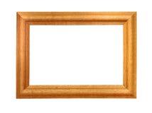 ram isolerat vitt trä Royaltyfri Bild
