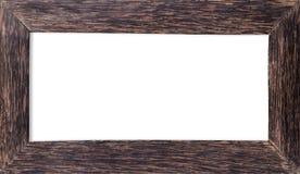 ram isolerat vitt trä Arkivfoto