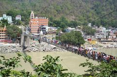 Ram Jhula, Rishikesh, Uttarakhand, India Royalty-vrije Stock Foto's