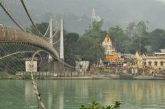 Ram Julla, Rishikesh, Inde La rivière le Gange Images stock