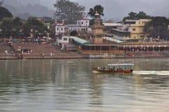 Ram Julla, Rishikesh, India. The river Ganges Stock Photos