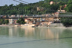 Ram Julla, Rishikesh, India. The river Ganges Royalty Free Stock Photography