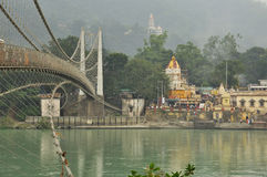 Ram Julla, Rishikesh, India. The river Ganges Stock Images