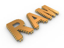 RAM letters like computer chips Royalty Free Stock Photos