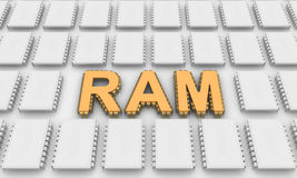 RAM letters like computer chips Stock Images