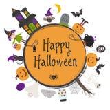 ram lyckliga halloween stock illustrationer
