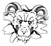 Ram mascot breakthrough Royalty Free Stock Image