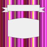 Ram med bakgrund från remsor av olika färger stock illustrationer