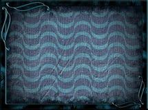 Ram med blå vågor och bakgrund royaltyfri bild