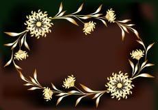 Ram med blommor i formen av en ellips Arkivbilder