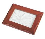 Ram med brutet exponeringsglas Arkivbilder