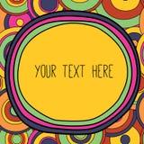 Ram med ett ställe för din text, psykedeliskt utforma Arkivbild