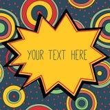 Ram med ett ställe för din text, psykedeliskt utforma Arkivfoton
