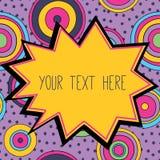Ram med ett ställe för din text, psykedeliskt utforma Royaltyfri Foto