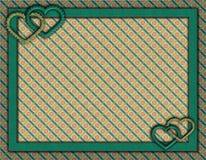 Ram med hjärtor och pappers- bakgrund royaltyfri illustrationer