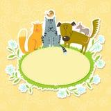 Ram med husdjur royaltyfri illustrationer