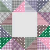 Ram med patchworkbeståndsdelar Arkivfoto