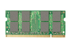 Ram memory. Isolated on white, clipping path included Stock Photo
