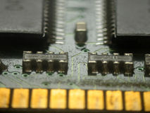 RAM Memory. An extreme macro of a ram memory. Realy soft focus shot. (Low dof stock images