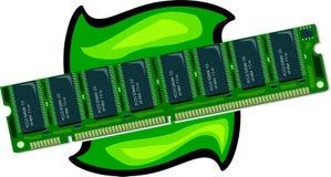 RAM memory. Illustration Royalty Free Stock Image