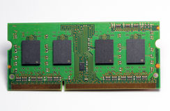 Computer hardware, RAM memory card. Royalty Free Stock Photography