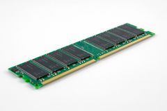 RAM memory Chip. Memory Ram Chip on white isolation background Royalty Free Stock Photography