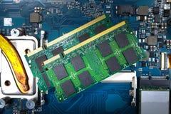 RAM Memory-Karten für Notizbuch Stockfotos