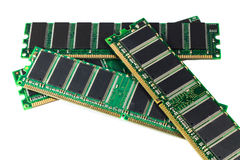 RAM memory module. DDR RAM sticks isolated on white Royalty Free Stock Photo