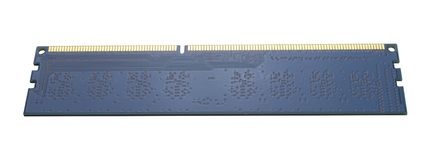 RAM memory module. PC RAM memory module isolate royalty free stock images
