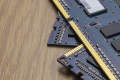 RAM memory module. On the table stock images