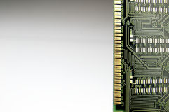 Ram memory seen from below Stock Image