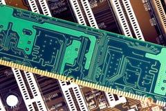 RAM Memory Stick On Motherboard royaltyfria foton