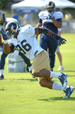 RAM Michael Sam During Rams Practice Royaltyfri Bild