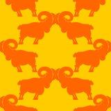 RAM modell flock av fårprydnaden Bakgrund för lantgårddjur royaltyfri illustrationer