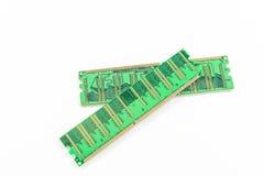 RAM module isolated on white. Stick of computer random access memory (RAM Stock Photo
