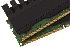 RAM modules close up. Computer ram on white background Stock Photography