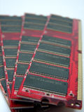 RAM modules close up Royalty Free Stock Photography