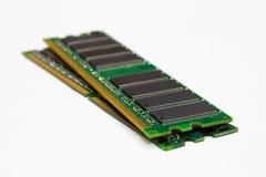 RAM-modules, die op een witte achtergrond worden geïsoleerd stock afbeelding
